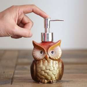 Owl Shaped Ceramic Soap Dispenser