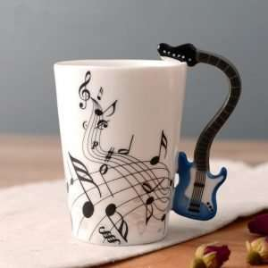 Guitar Handle Music Themed Note Coffee Mug