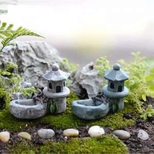 1pcs Vintage Artificial Pool Tower Miniature House Decor
