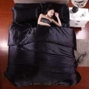 Solid Color Silk Bedding Set