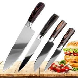 Stainless Steel Kitchen Knives 4 pcs Set