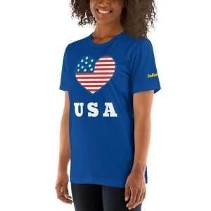 Love USA – Short-Sleeve Unisex T-Shirt
