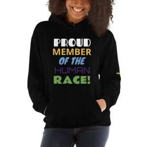 Unisex Hoodie – Proud Member of the Human Race