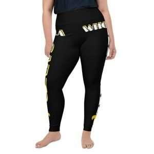 NOLA Saints All-Over Print Plus Size Leggings