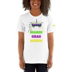 Mardi Gras Queen Short-Sleeve Unisex T-Shirt
