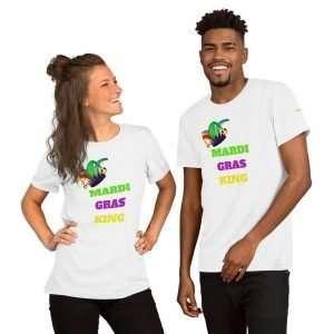 Mardi Gras King Short-Sleeve Unisex T-Shirt